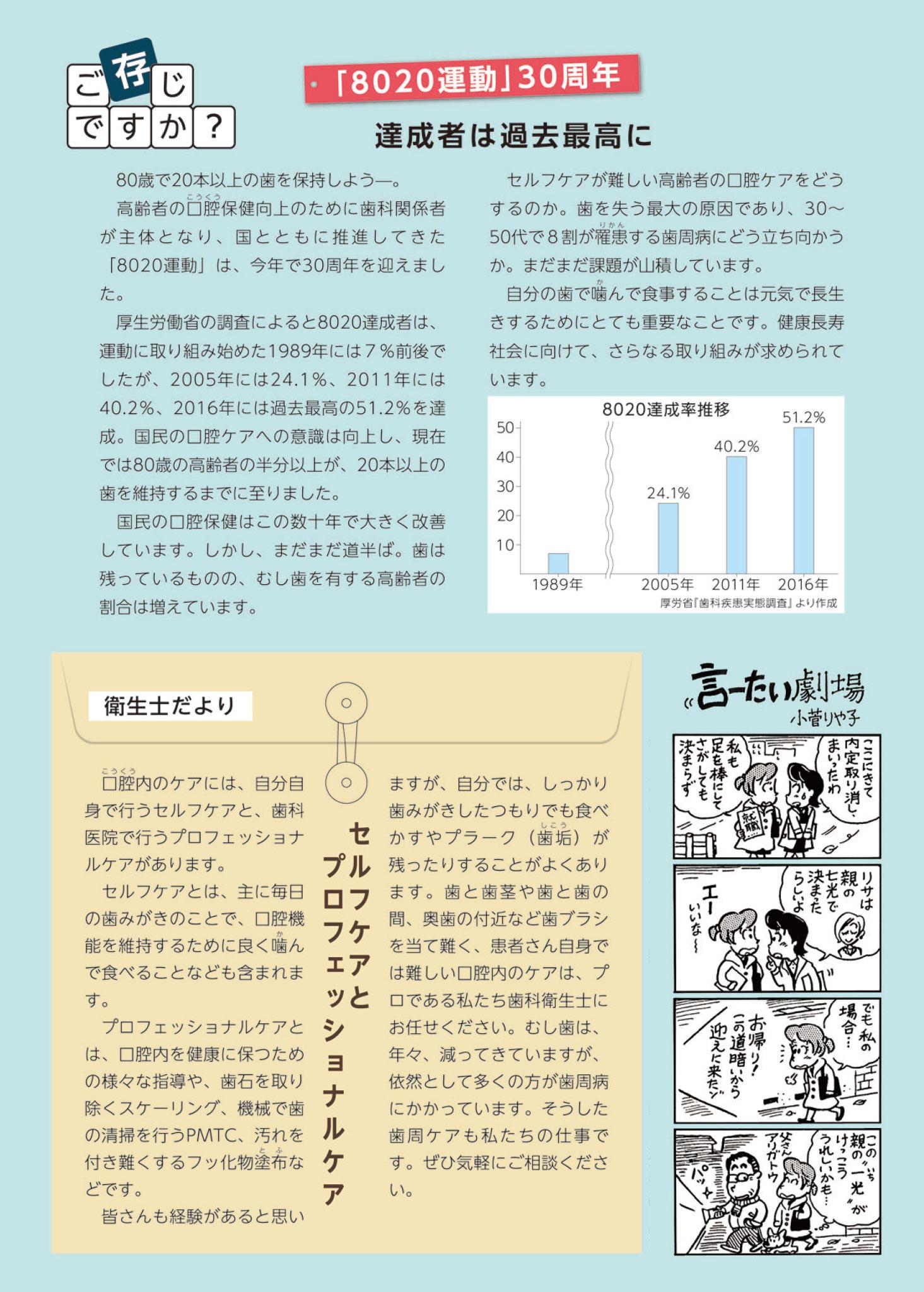 すまいるニュース2018年9-10月号 健康づくりの第一歩